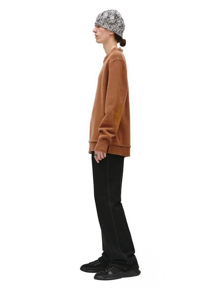 Maison Margiela Brown Crew Neck sweater - Brown