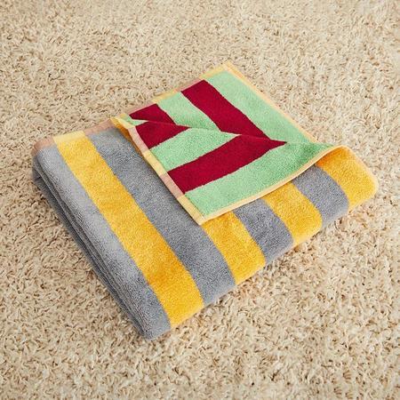 Dusen Dusen Jade Stripe Bath Towel - Multi