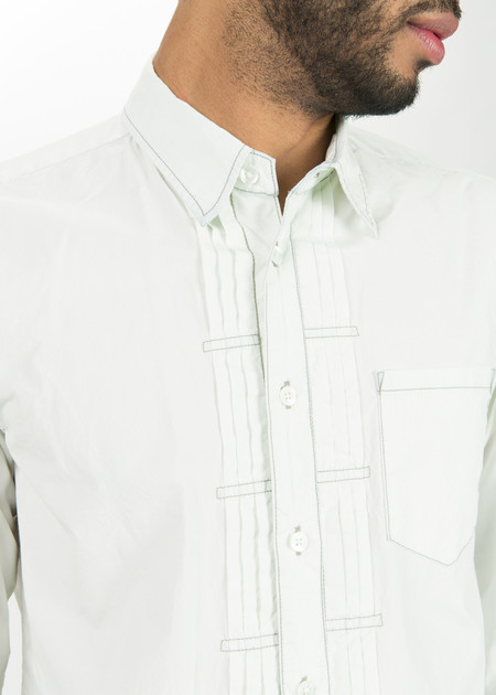 Sage de Cret Pleated Placket Shirt