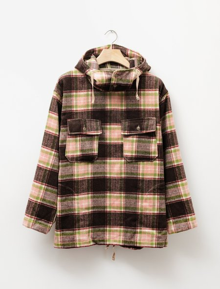 Engineered Garments Cagoule Shirt - Brown/Pink Plaid