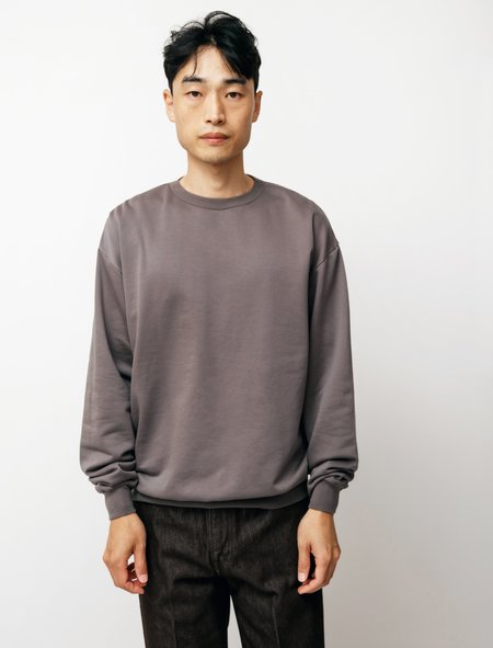 AuraleeElastic High Gauge Sweater - Gray