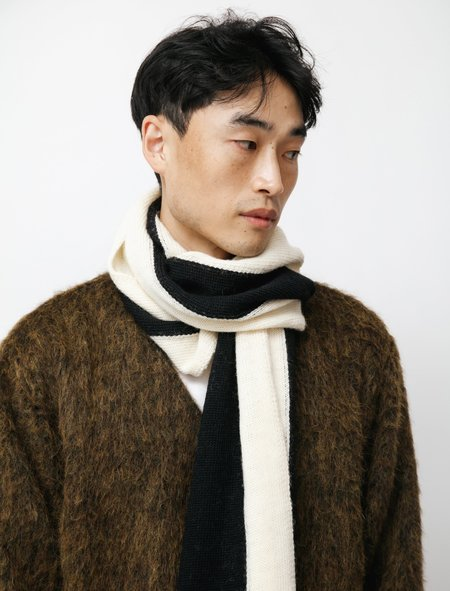 Our Legacy Ivy Striped Scarf - Black/White