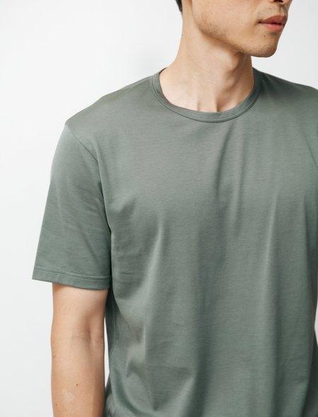 Sunspel SS Crew Neck T-Shirt - Smoke Green