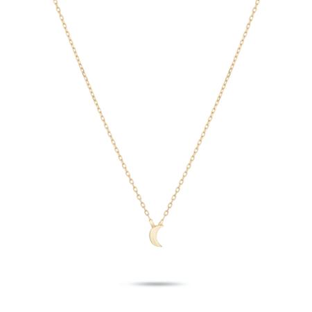 Adina Reyter Super Tiny Puffy Moon Necklace - Gold