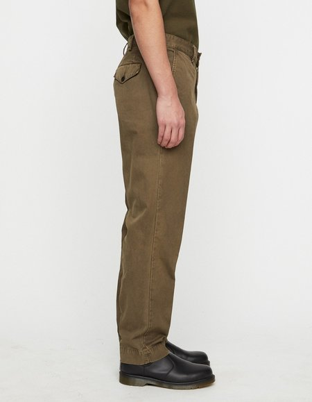 Schnayderman's Tailored Trousers Overdyed - Army Green