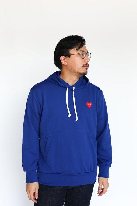 Comme des Garçons Red Heart Hooded Sweatshirt - Navy