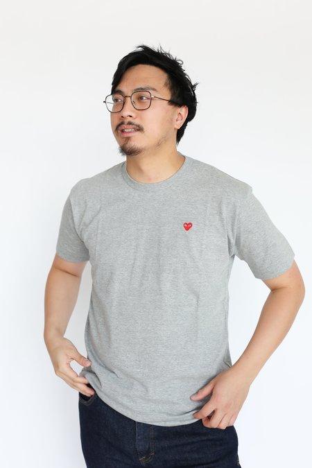 Comme des Garçons Small Heart Patch T-Shirt - Grey