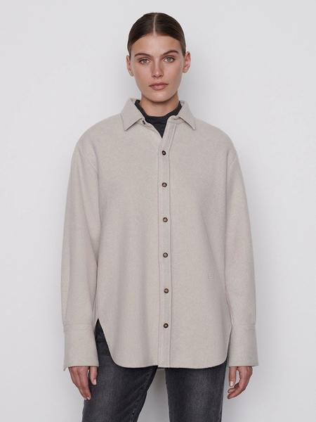 FRAME Denim The Oversized Shirt Jacket - Bone