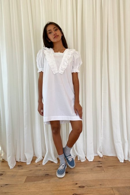 Courgette Frill smocked sleeve dress