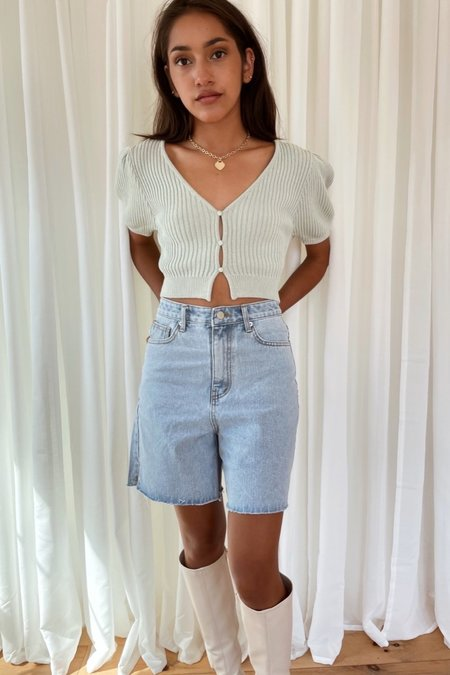 Uncover High Waist Denim Shorts