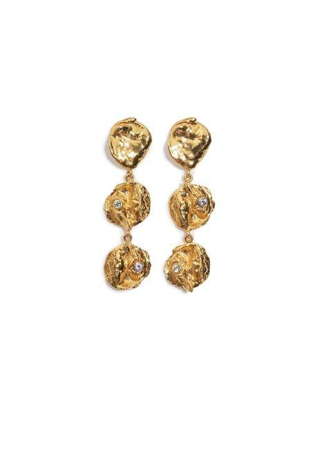 Lizzie Fortunato Opus Earrings - Brass