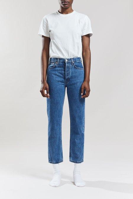 Still Here New York Tate Crop Original Jeans - Classic Blue