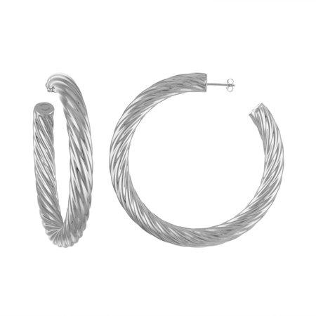 """Machete 2.5"""" Twist Perfect Hoops - Silver"""