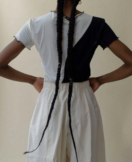 Nin Studio Swirl T-Shirt - Black/Ivory