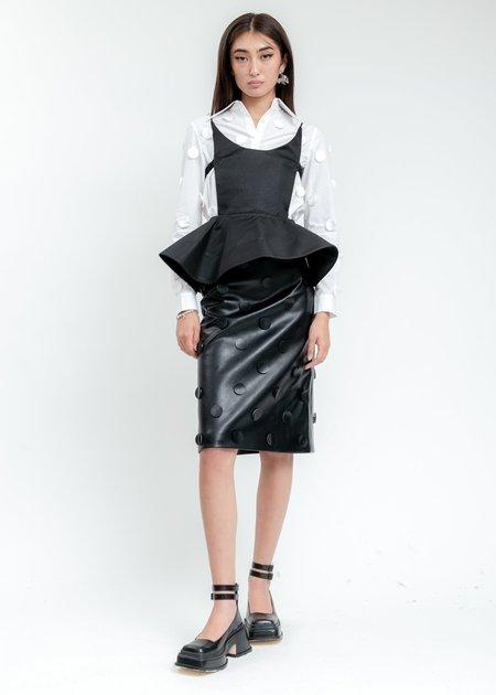 Shushu/Tong Ruffle Top - Black
