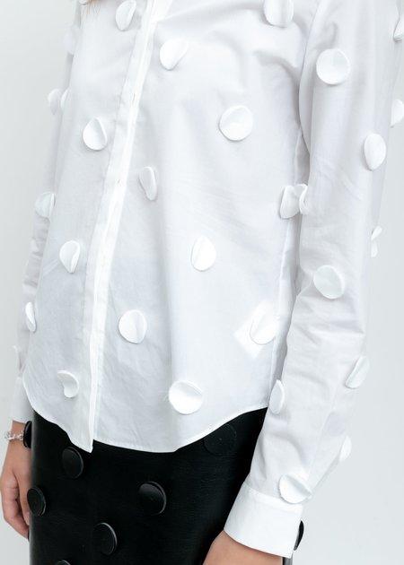 Shushu/Tong  Dots Shirt - White