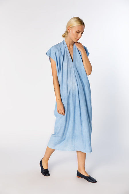 Miranda Bennett Everyday Dress - Oversized, Cotton in Light Indigo