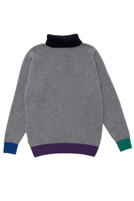 Country of Origin Contra Roll Sweater - Grey