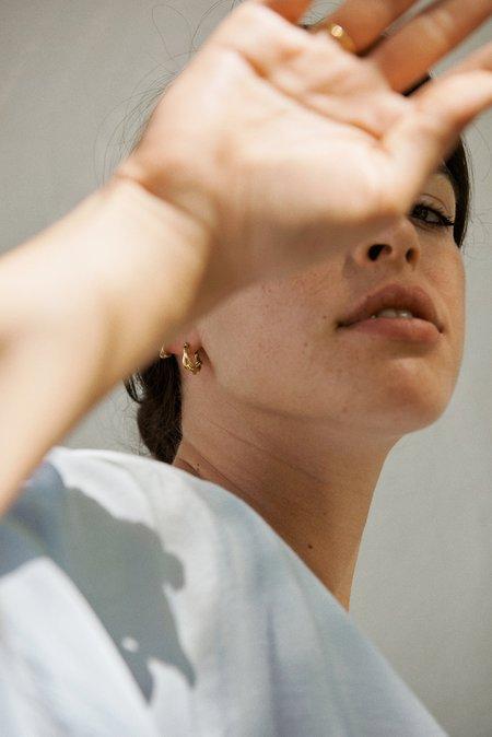 Hana Kim Small Vine Hoop - Gold