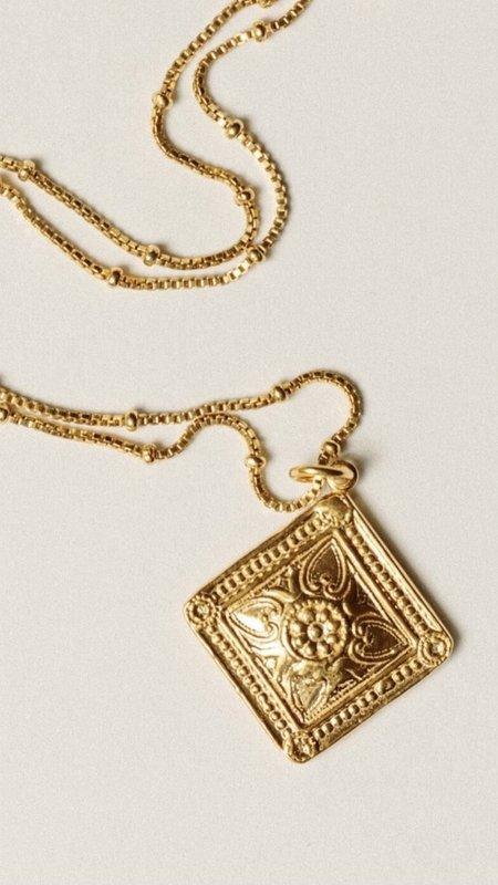 Pamela Card The Allegory Of Estoi Necklace - 24K Gold Vermeil