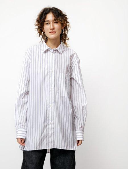 Studio Nicholson Wirthe Multi Stripe Shirt - White