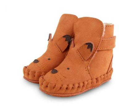 kids Donsje Kapi Special Lining Fox Boots - Maple Nubuck