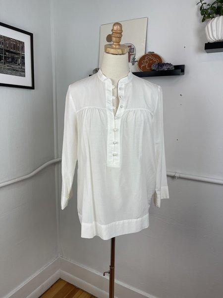 [pre-loved] Raquel Allegra Button Front Blouse - white