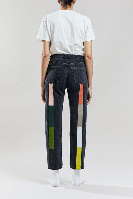 Still Here New York Canyon Rainbow Tate pants - Washed Black