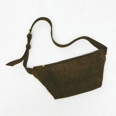Rita Row Suede Faya Bag - Khaki
