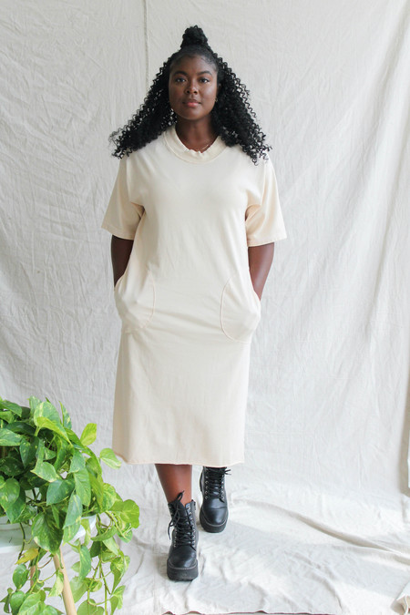 Back Beat Co. Patch Dress - Cereal
