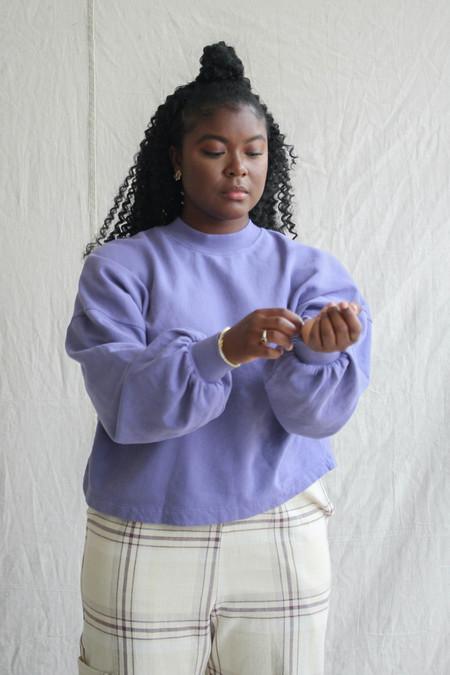 Back Beat Co. Puff Sleeve Sweatshirt - Heron