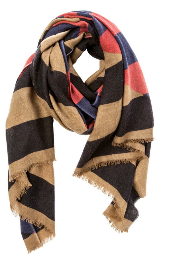 YARNZ Diamond Stripe Cashmere + Wool Scarf