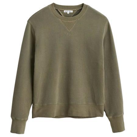 Alex Mill Garment Dyed Crewneck Sweatshirt - Golden Olive