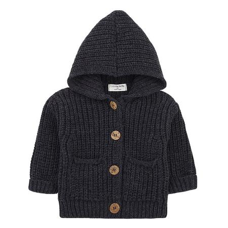 kids 1+ In The Family Baby And Child Ubald hooded Cardigan - Grey