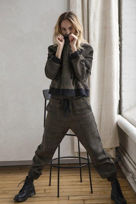 Nymane Erin Jogger pants - Black/Cream