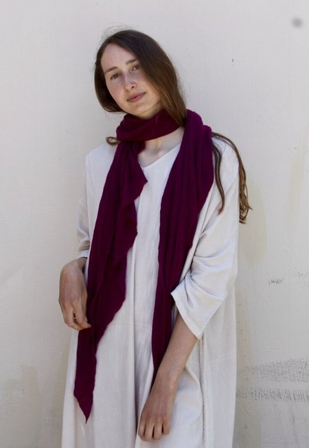 Cashmere Scarf Jersey Scarf - Pure White