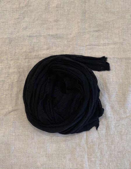 Cashmere Scarf Jersey Shawl - Black