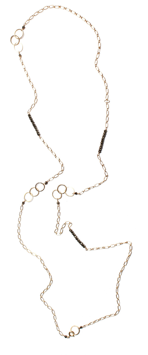 James and Jezebelle Gold & Pyrite Necklace