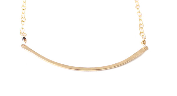 Sarah Dunn Gold Bar Circle Necklace
