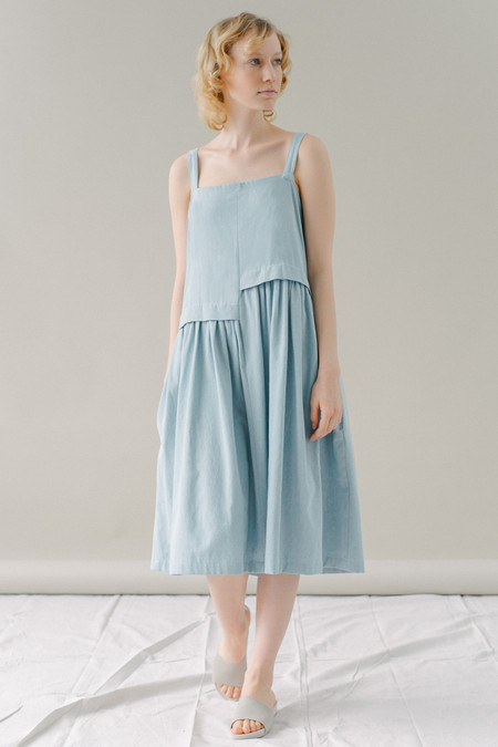 REIFhaus Escalera Dress in Light Indigo Denim