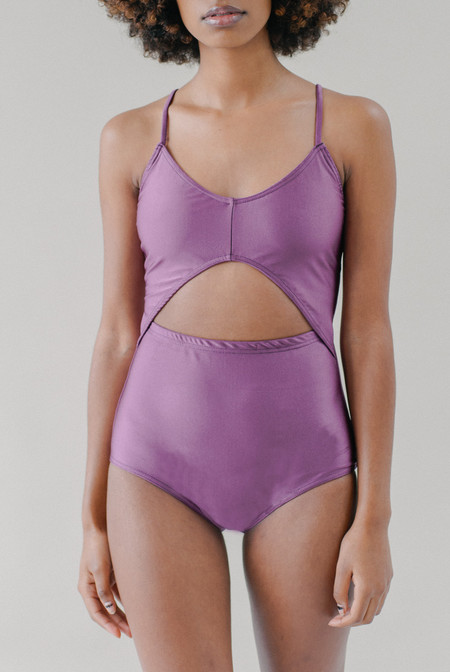 REIFhaus Gamma One Piece Swimsuit in Plum