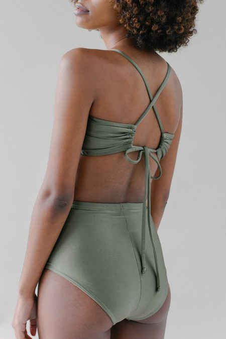 REIFhaus Wave Swim Top in Olive