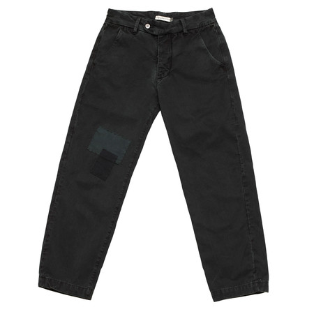 Unisex Olderbrother Patched Slim Straight - Black Indigo
