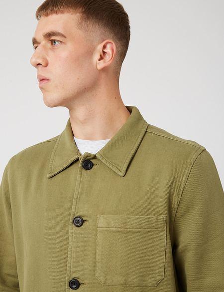 Nudie Jeans Barney Worker Jacket - Olive Green