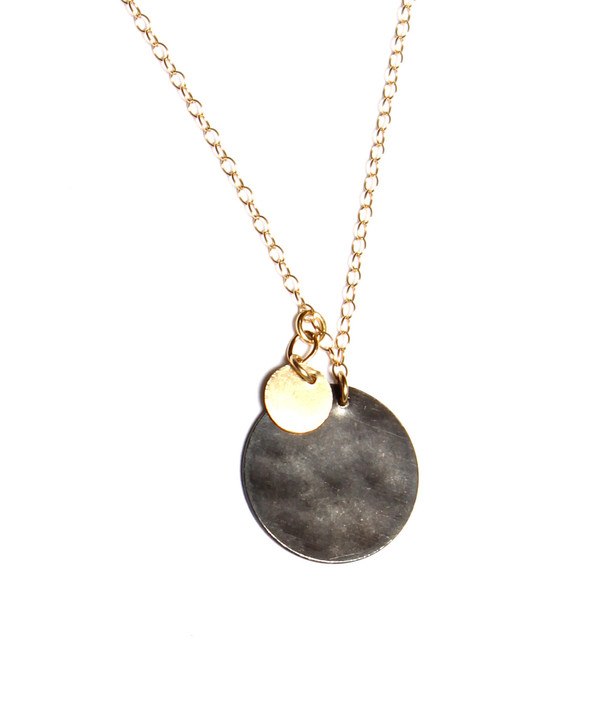 Nancy Caten Hammered Disks Necklace