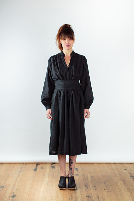 Black Crane poet dress