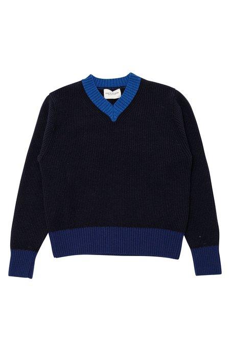 Country of Origin Vee Sweater - Navy
