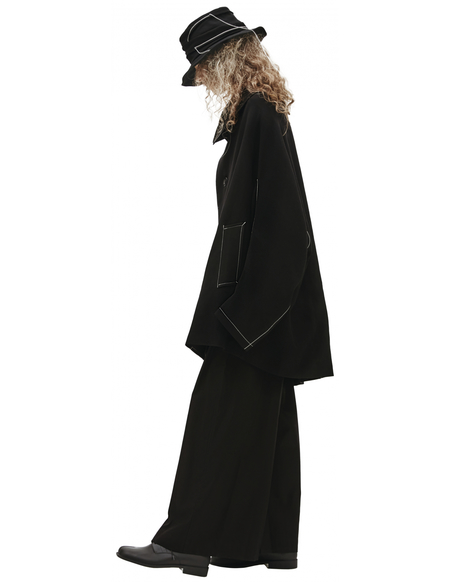 Y's Coat With Contrasting Seams