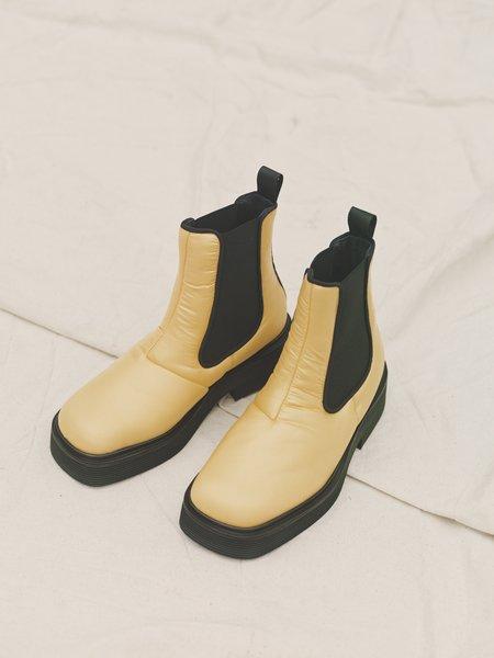 Marni Padded Nylon Square Toe Chelsea Boot - Yellow