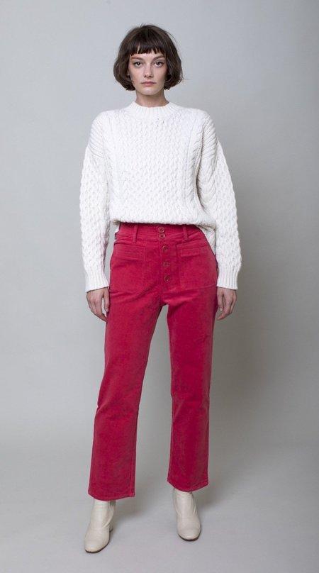 Apiece Apart Slim Marston Pant - Crimson